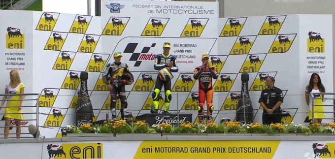 Dominique Aegerter 1. GP Sieg in der Moto 2